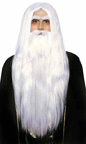 Adult Merlin Wizard Wig & Beard Set (2)