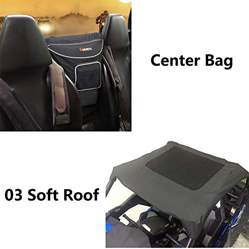 UTV Cab Pack Storage Bag & Soft Roof for Polaris RZR 900 XP 1000 Turbo 900 S Trail by kemimoto (Image #6)
