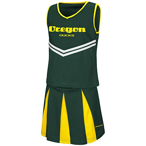 Colosseum Youth NCAA-Girls Cheer Set-Oregon Ducks-Youth Small -