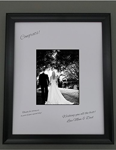 amazoncom 16x20 black frame with white signature mat for 8x10 picture perfect for weddings baby showers and reunions arts crafts sewing