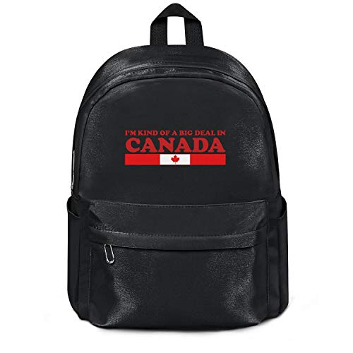 YHTRHGH I'm Kind of A Big Deal in Canada Black Wool School Bag Backpack Girls Unisex Cute College Laptop Bag for Teens Girls Students Casual Lightweight Travel Daypack Outdoor (Best Laptop Deals Toronto)