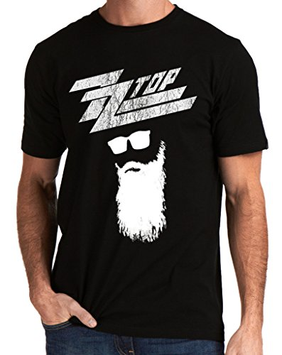 (ZZ Top Rock Band Logo Texas Men's T-shirt XX-Large Black)