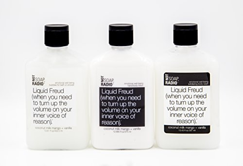 Bubble Bath, Shower Gel and Lotion Gift Set - Liquid Frued - Coconut Milk & Mango - Emotional Well-Being Formula By Not Soap, Radio