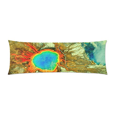 Yellowstone National Park Body Pillow Cover Decorative Case Pillowcase 21x61 (Yellowstone National Park Sign Charm)