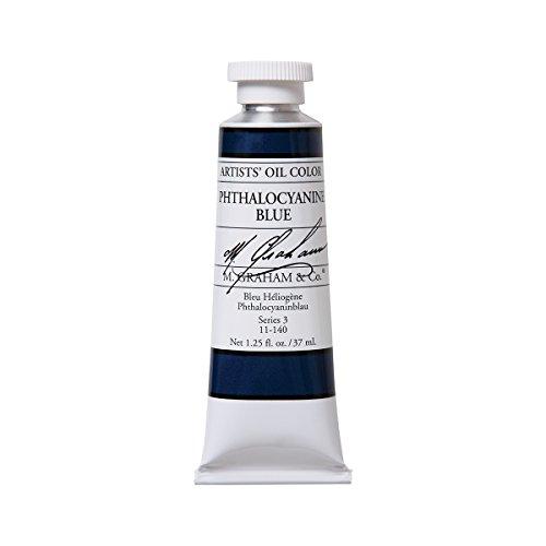 M. Graham Artist Oil Paint Phthalo Blue 1.25oz/37ml Tube