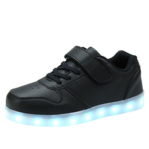 AFFINEST Boy Girls Light up Shoes Led Flashing Fashion Sneaker Kids Toldder