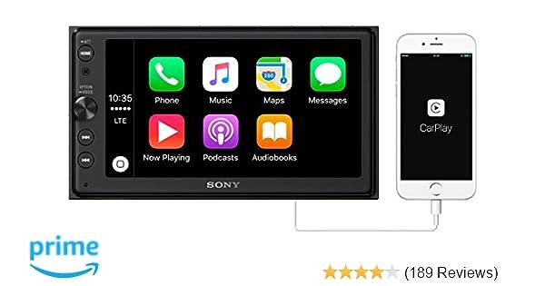 amazon com sony xav ax100 6 4 car play android auto media receiver