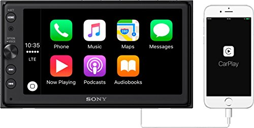 Sony XAV-AX100 6.4″ Car Play/Android Auto Media Receiver with Bluetooth