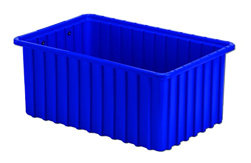 LEWISBins+ DC2070-SQ DkBlue Divider Box Container, HDPE, 16.5