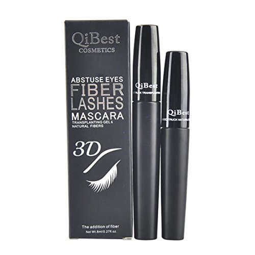 IBTS�2PCS/1set Black Mascara 3D Fiber Curling Lengthening Eye Lashs Mascara Cosmetics