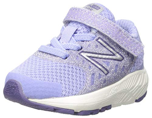 New Balance Girls' Urge V2 FuelCore Running Shoe, Clear Amethyst/Violet FLOURITE, 3 W US Infant