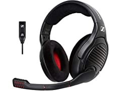 The PC 373D gaming headset blends legendary Sennheiser sound quality with Dolby Headphone 7.1 surround sound processing to deliver an immersive gaming experience combining spatial realism and pinpoint directionality. The new and improved surr...