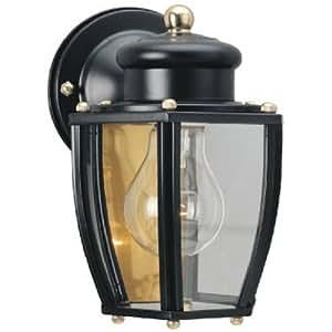 Westinghouse 6696100 One Light Exterior Wall Lantern Matte Black Finish On Steel
