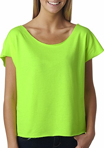Next Level Womens The Terry Dolman 6960-Neon Heather Green-X-Large