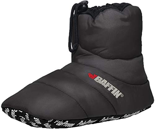 Baffin Unisex Cush Insulated Slipper Booty (X-Large, Charcoal)
