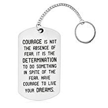 Courage is Not the Absence of Fear, It is the Determination to Do Something Inspirational Key chain