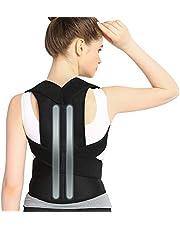 Doact rechthouder voor houdingscorrectie, rug-, schouder-, verstelbaar, ademend, rugbandage, rughouder, houdingscorrectie, voor dames en heren XL
