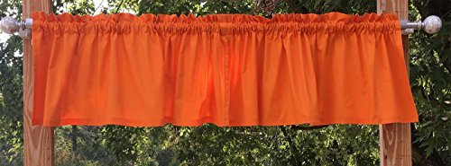Solid Orange Handcrafted 41×15 Curtain Valance