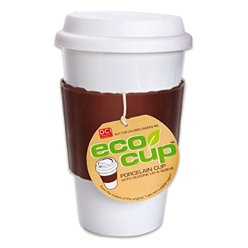 Eco Cup w/ Silicone Lid & Sleeve Coffee Tea i am not a paper