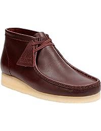 Clarks Wallabee Chukka Boots Burgundy Tumbled