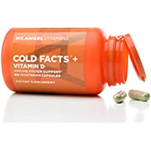 Mt. Angel Vitamins - Cold Facts + Vitamin D, Immune System Support (60 Vegetarian Capsules)