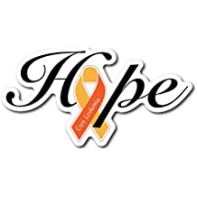 Leukemia Awareness Hope Sticker/Decal - Set of 3 -