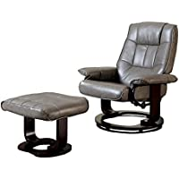 HOMES: Inside + Out ioHOMES Alma Padded Lounger with Ottoman, Gray