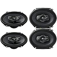 4) New Pioneer TS-A6885R 5x7/6x8 Car Audio Speakers 4 Way 350 Watts TSA6885R