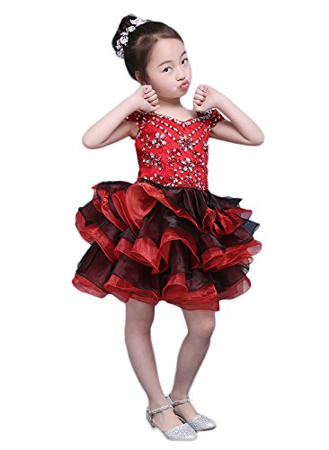 rouge 8 ans ChuanYiMG - Robe - Cocktail - Fille