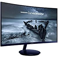 Samsung 27-Inch Full HD C27H580 Curved VA Monitor with 1920x1080, 16:9, 250cd/m2, 4ms, 60 Hz, FreeSync, HDMI | DP | D-Sub, Glossy Blue Black (Round Stand Included)
