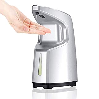 ibowee Touchless Hand Sanitizer/Alcohol/Gel Dispenser,15.2oz/450ml Automatic Soap Dispenser,Hand-Free Liquid Adjustable Countertop/Wall Mounted for Office,Hospital,Station,Kitchen,Bathroom