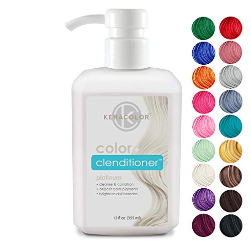 Keracolor Clenditioner Color Depositing Conditioner Colorwash Platium, 12 Fl Oz