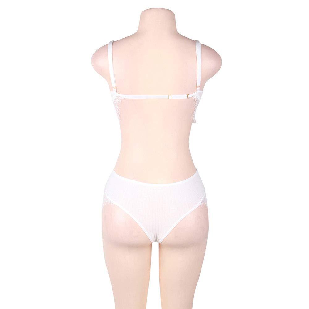 Encaje tentación sexy erótica traje sexy ropa interior mujer erótica sexy ropa interior,blanco,XL a8c7bf