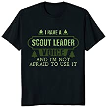 Funny Scout Leader Voice Gift T-Shirt Awesome Mom Dad Kids