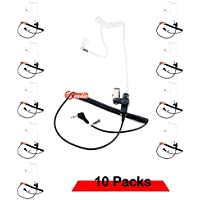 Zeadio ZP-AR169 RECEIVER/LISTEN ONLY Surveillance Acoustic Earpiece with 2.5mm Connector for Ham Radio, Two-Way Radios, Transceivers and Radio Speaker Mics Jacks (Pack of 10)