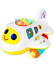 Baby Toys 6 to12 18 Months Light Up Moving Musical Airplane Toys for 1 2 3 year old Boys Girls Birthday Gifts Educational Learning Developmental Sensory Baby Toys for Toddlers Infants Little Kids