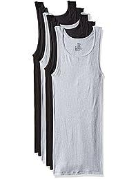 Hanes Men's ComfortSoft 6 Pack FreshIQ Tagless A-Shirts