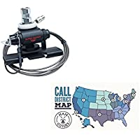 Bundle - 2 Items - Diamond K400-3/8C Trunk/Hatchback Mount with 2-Axis Adjustment, 3/8x24 Base and 6ft Coax and Ham Guides TM Pocket Reference Card