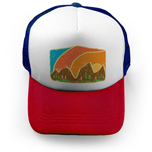 Gone For a Run Nature Crest Trucker Hat | Running Hats Royal/Red (Trucker Crest Hat)