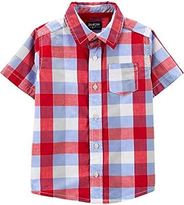 OshKosh BGosh Boys Toddler Short-Sleeve Woven Top
