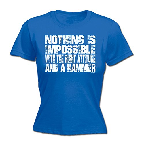 123t-womens-nothing-is-impossible-attitude-and-a-hammer-l-royal-blue-fitted-t-shirt