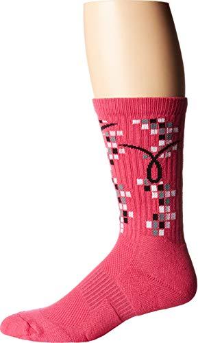 NIKE Unisex Elite Kay Yow Basketball Crew Socks Pink (Medium)