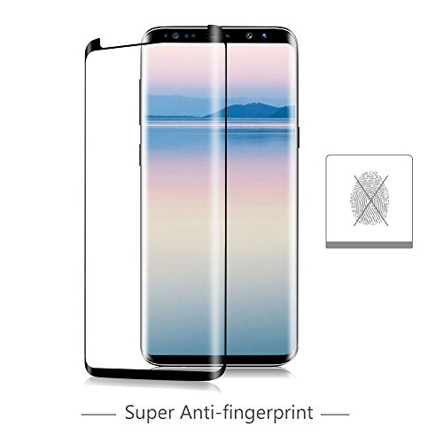 Galaxy S9 Plus Glass Screen Protector, [Case Friendly] OTAO 3D Curved Dot Matrix Tempered Glass Screen Protector [Tray Installation] for Samsung Galaxy S9 Plus
