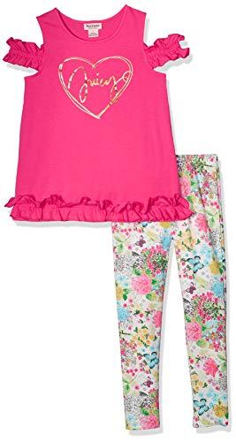 Juicy Couture Girls' Big 2 Pieces Legging Set, Pink/Print, - Janie Jack