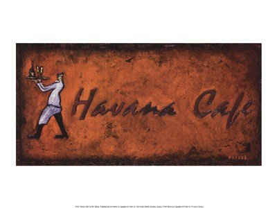 Havana Cafe by Will Rafuse - 15.75x11.75 Inches - Art Print Poster