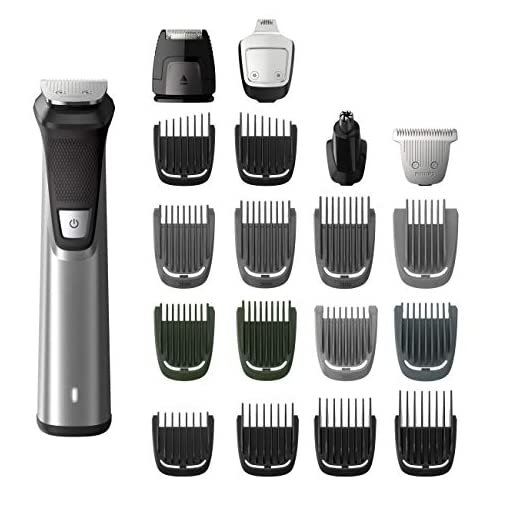 philips norelco multigroom series 7000, mg7750/49, 23 piece mens grooming kit, trimmer for beard, head, body, and face - no blade oil needed - 41i 0ZZiQ 2BL - Philips Norelco Multigroom Series 7000, Men's Grooming Kit with Trimmer for Beard, Head, Body, and Face – No Blade Oil Needed, MG7750/49