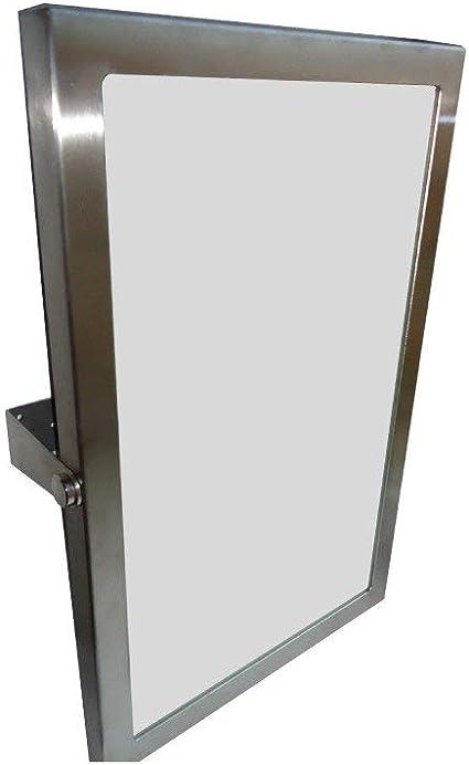 Kiepspiegel Geborsteld Roestvrij Staal Zilver 60 X 40 X 12 Cm Badartikelen Badkamer Accessoires Badkamer Amazon Nl