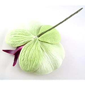 """(10) Green Phalaenopsis Orchid Silk Flower Heads - 3.75"""" - Artificial Flowers Heads Fabric Floral Supplies Wholesale Lot for Wedding Flowers Accessories Make Bridal Hair Clips Headbands Dress 2"""