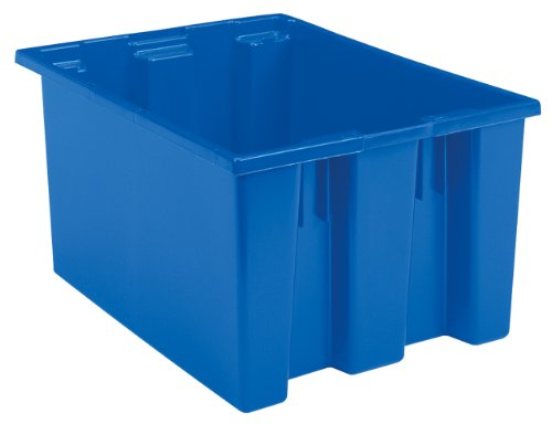 and Stack Plastic Storage and Distribution Tote, 23.5-Inch L by 19.5-Inch W by 13-Inch H, Blue, Case of 3 ()