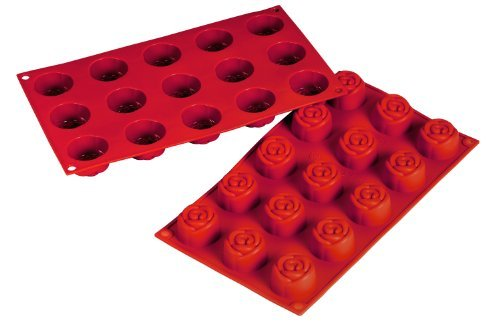 Fat Daddio's Silicone Bakeware Rose, 0.78 Ounce by Fat Daddios